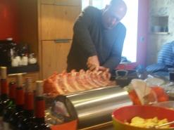 Préparation du déjeuner